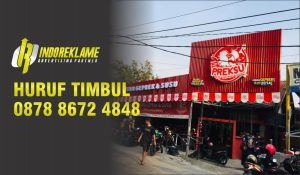 indoreklame advertising huruf timbul