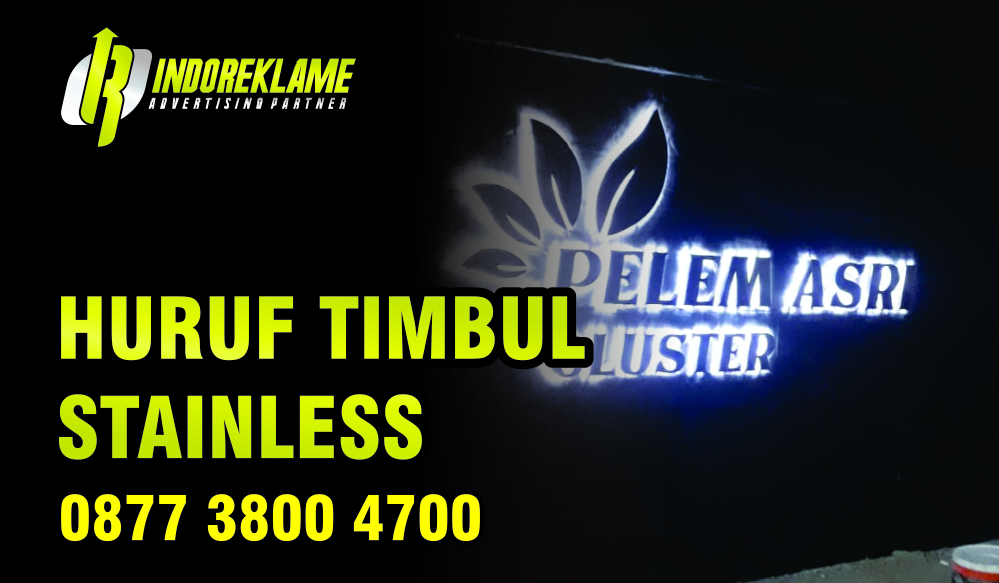 Bikin Huruf Timbul Stainless