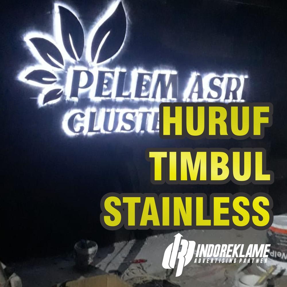 huruff timbul stainless