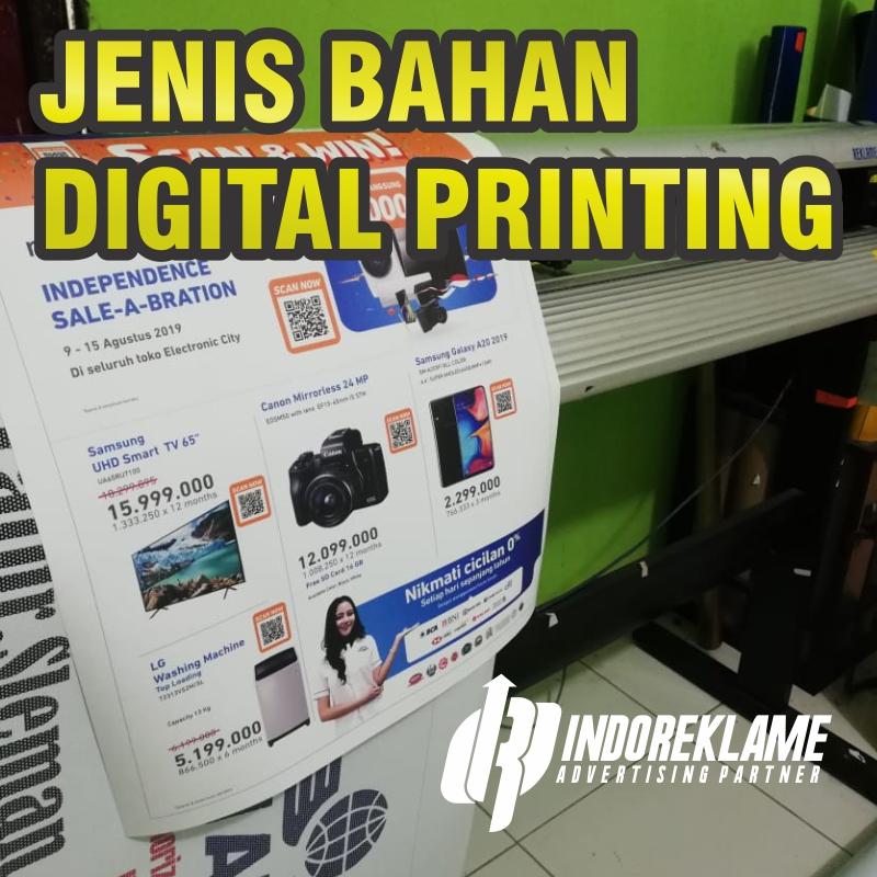 Jenis bahan digital printing