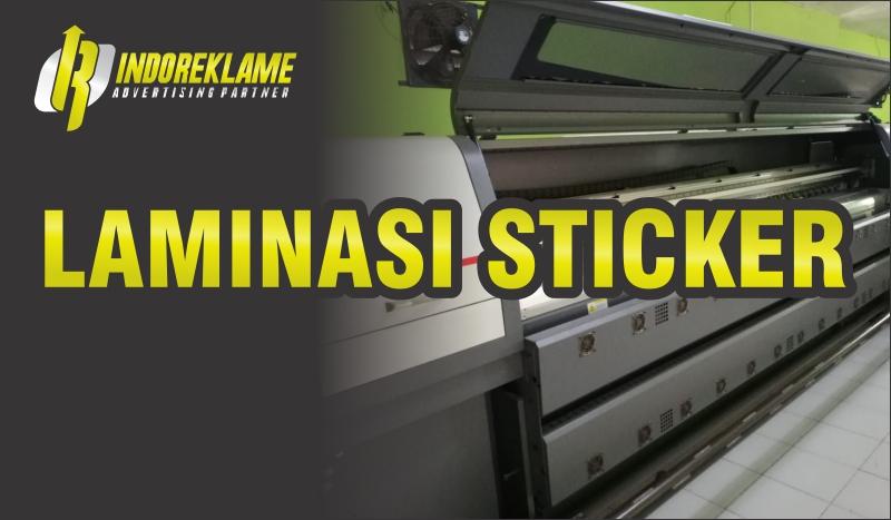 Laminasi Sticker Doff dan Glossy