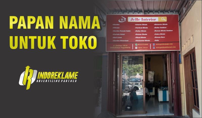 Keunggulan Papan Nama Toko